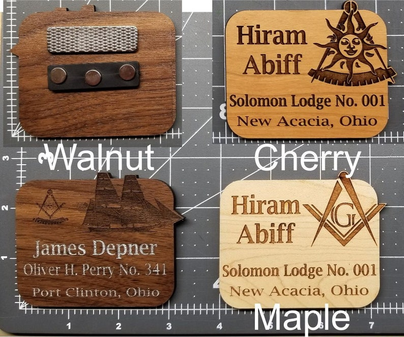 Masonic and Appendant Body Name Badges Customizable with image 0