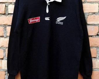 0d614532ae8 Canterbury New Zealand All Blacks Steinlager Rugby Medium Size