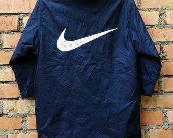 239ee1616512 Vintage Nike Swoosh Logo Parka Jacket Small Size
