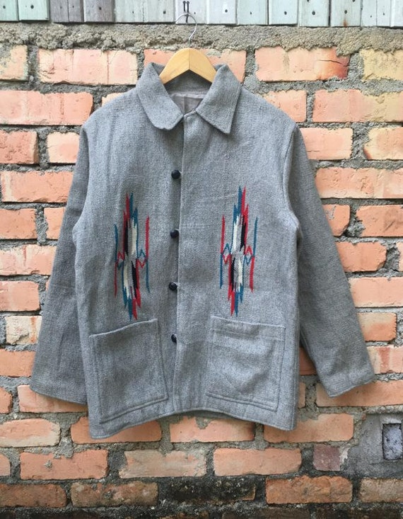 Vintage Native Chore Jacket Chimayo Style
