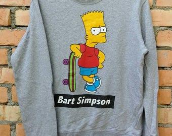 Rare!!! Bart Simpson Cartoon Pullover Sweatshirt