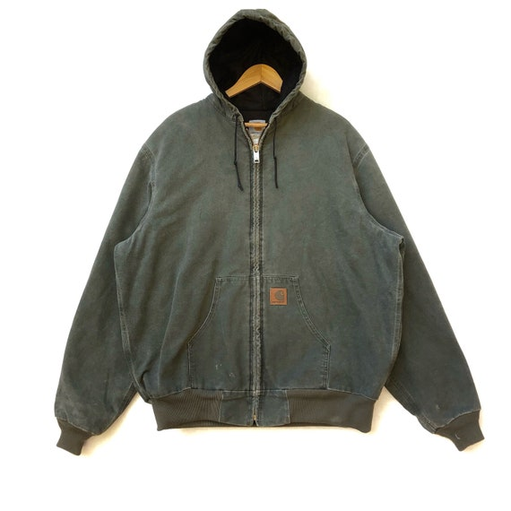 Rare!!! Carhartt Denim Jacket Bomber Hoodie