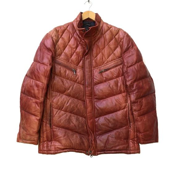 Vintage SCHAFFEN Puffer Leather Jacket
