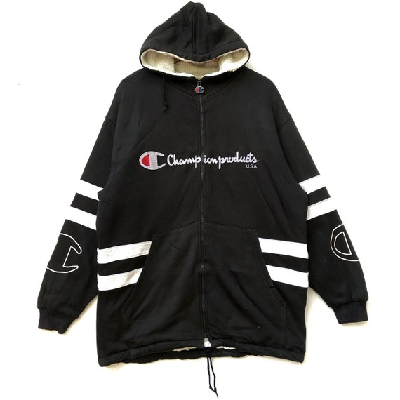 Vintage CHAMPION PRODUCTS Hoodie Parka