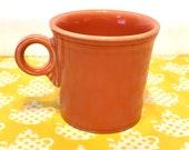 Paprika Fiesta Mug, Burnt Orange Homer Laughlin Fiesta Coffee Cup, Paprika Ring Handle Fiesta Coffee Mug