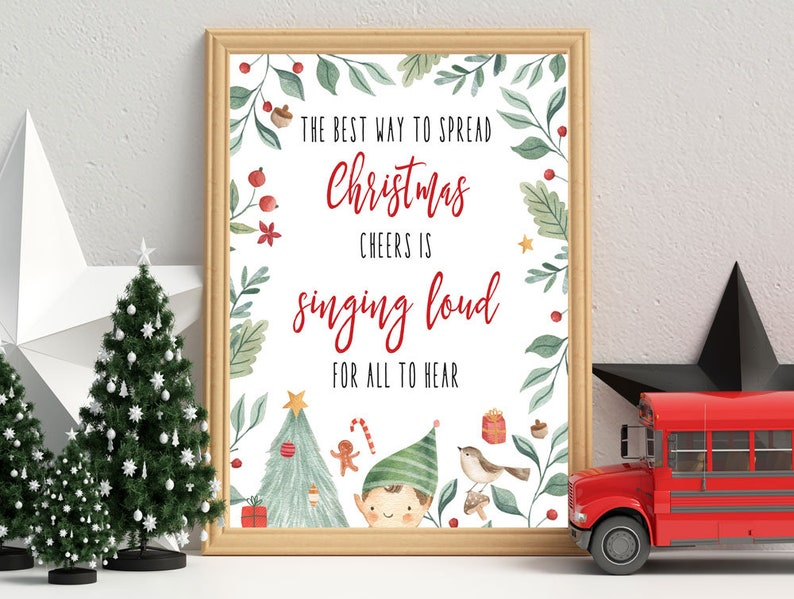Christmas Cheer Buddy Elf Poster Christmas Elf Poster Etsy