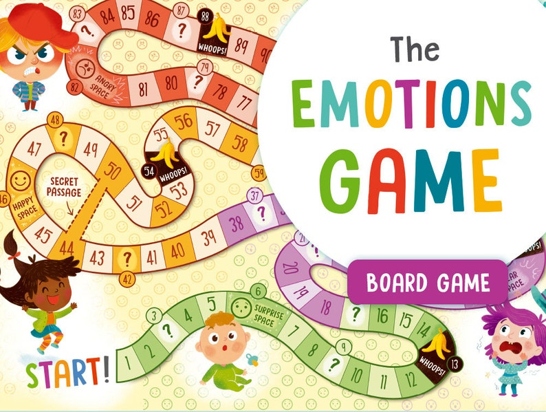 image regarding Board Game Printable referred to as Feelings board Activity, Printable thoughts for small children, Feelings match