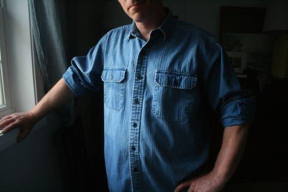 f82a67db28 Vintage Ralph Lauren Denim GI Shirt    Men s Long Sleeve