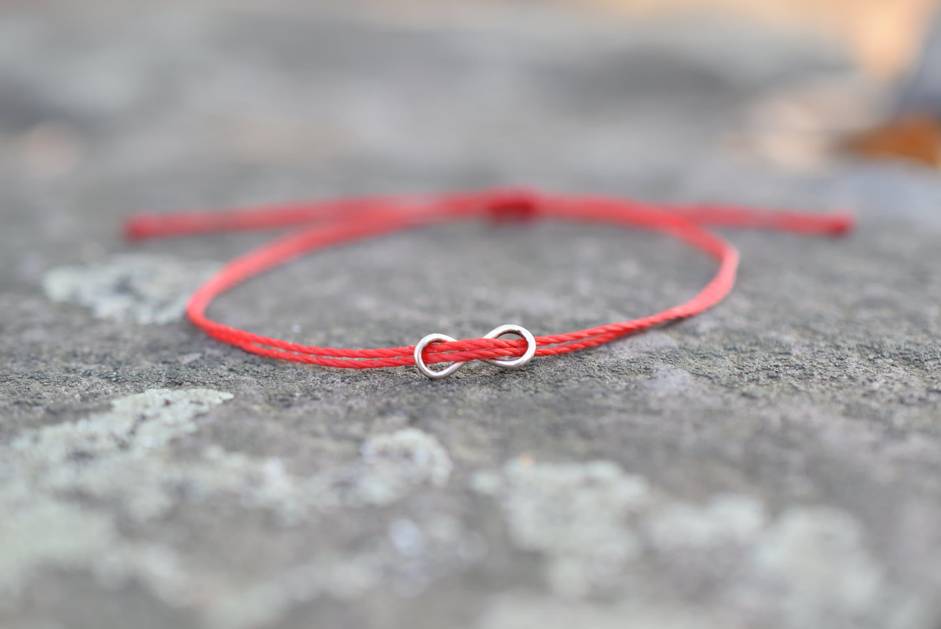 UK Jewellery Wax Braiding Friendship Bracelet  Silver Hope Love Infinity Symbols