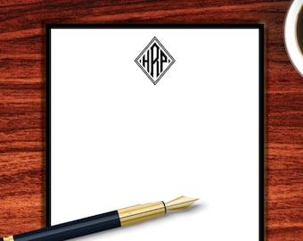 Diamond Monogram Notepad