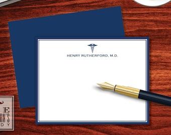 Caduceus Flat Note Cards