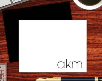 Modern Folded Note Cards