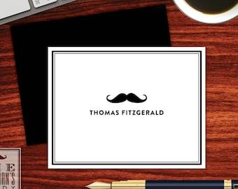 Moustache Folded Note Cards