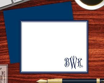 Regency Monogram Folded Note Cards