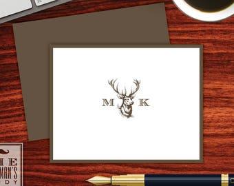 Buck Head Folded Note Cards