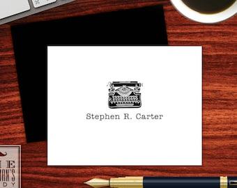 Vintage Typewriter Folded Note Cards