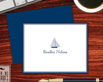 Sailboat Folded Note Cards