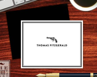 Vintage Pistol Folded Note Cards