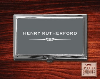 Gramercy Personalized Business Card Case