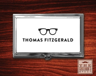 Spectacles Personalized Business Card Case