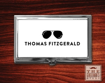Shades Personalized Business Card Case