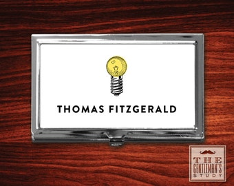 Bright Ideas Personalized Business Card Case