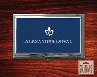 Fleur de Lis Personalized Business Card Case