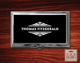 Gatsby Personalized Business Card Case