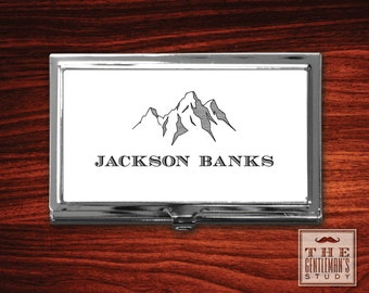 Teton Personalized Business Card Case