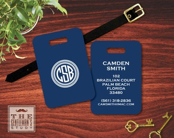 Camden Monogram Luggage Tag