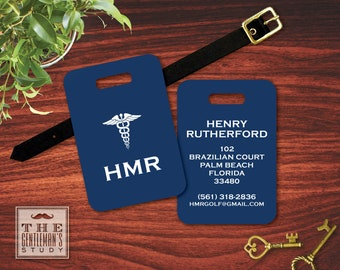 Caduceus Personalized Luggage Tag
