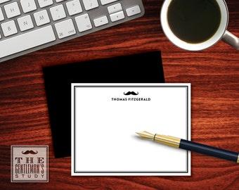 Moustache Flat Note Cards