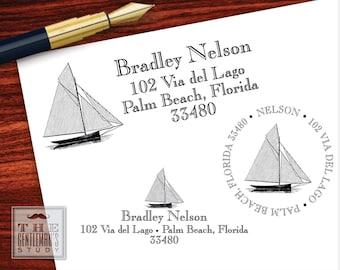 Sailboat Pre-Inked Address Stamp
