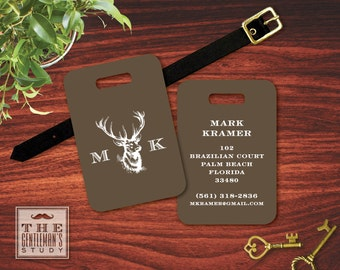 Buck Head Personalized Luggage Tag