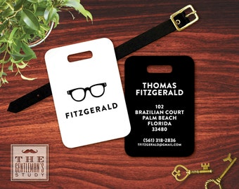 Spectacles Personalized Luggage Tag
