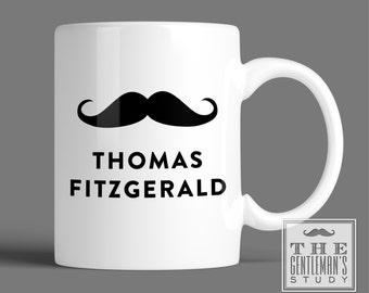 Moustache Personalized Mug