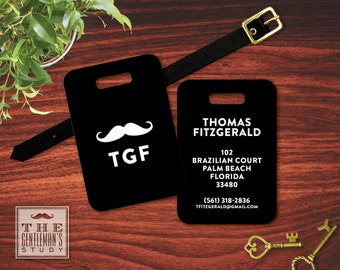 Moustache Personalized Luggage Tag