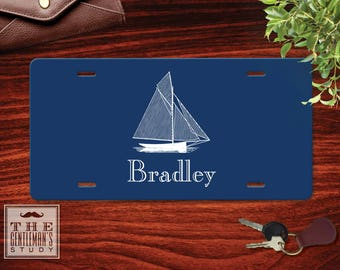 Sailboat Personalized License Plate