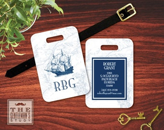 Clipper Ship Monogrammed Luggage Tag
