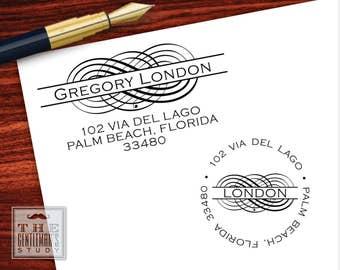 Flourish Pre-Inked Address Stamp