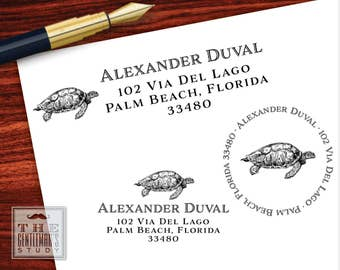 Sea Turtle Pre-Inked Address Stamp