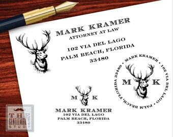 Buck Head Pre-Inked Address Stamp