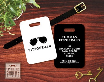 Shades Personalized Luggage Tag