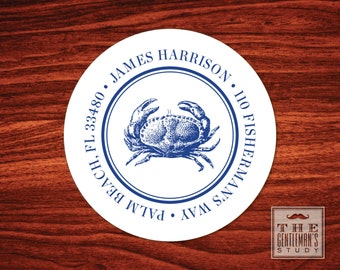 Blue Crab Address Labels