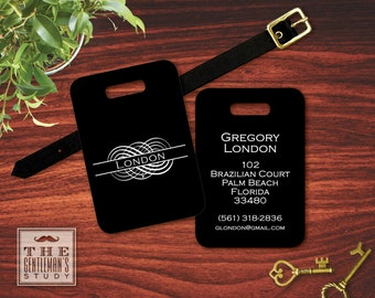 Flourish Personalized Luggage Tag
