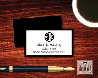 Circle Monogram Calling Cards