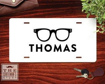 Spectacles Personalized License Plate