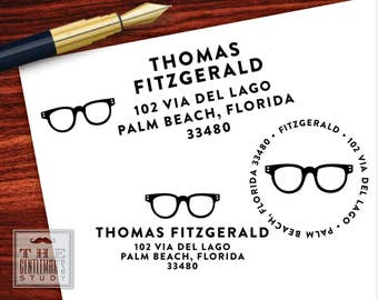 Spectacles Pre-Inked Address Stamp