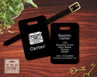 Vintage Typewriter Personalized Luggage Tag