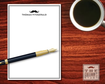 Moustache Notepad   Masculine Stationery   Personalized Memo Pad Writing  Paper For Men   5x7 Notepad   Gift For Hipster Or Beardo